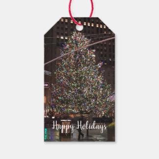 Étiquettes-cadeau Arbre de Noël central de New York City Rockefeller