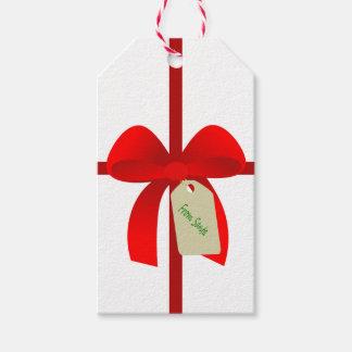 Étiquettes-cadeau Arc d'enveloppe de cadeau de Père Noël