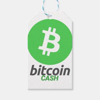 Étiquettes-cadeau Argent liquide de Bitcoin - Cryptocurrency