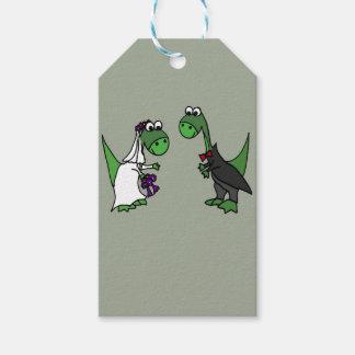 Étiquettes-cadeau Art drôle de mariage de brontosaure