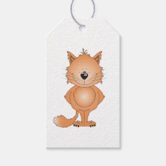 Étiquettes-cadeau Bande dessinée mignonne de chat