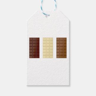Étiquettes-cadeau Barres de chocolat