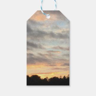 Étiquettes-cadeau Beau coucher du soleil