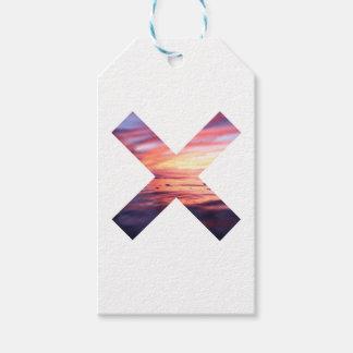 Étiquettes-cadeau Beau signe du paysage X