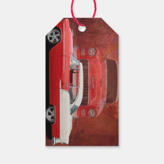 Étiquettes-cadeau Bel Air classique Dodge vintage blanc rouge de