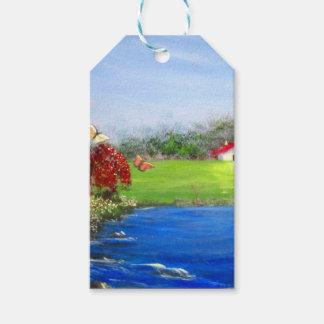 Étiquettes-cadeau Belle peinture de paysage