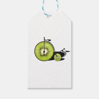 Étiquettes-cadeau Bicyclette de kiwi