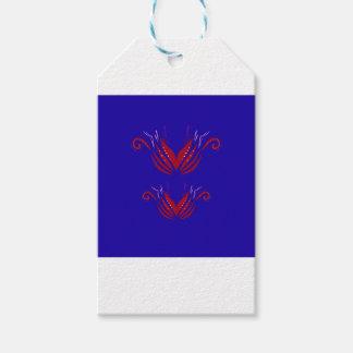 Étiquettes-cadeau Bleu rouge d'éléments de conception