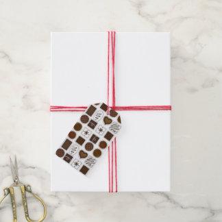 Étiquettes-cadeau Boîte de fin gourmet doux de Saint-Valentin de