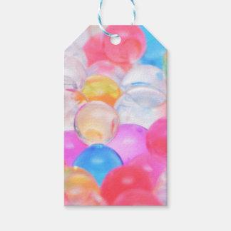 Étiquettes-cadeau boules transparentes