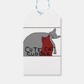 Étiquettes-cadeau Caresse mignonne de chat