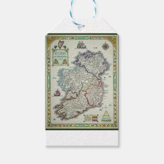 Étiquettes-cadeau Carte de l'Irlande - carte historique d'Eire Erin