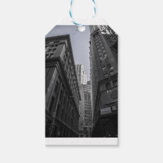 Étiquettes-cadeau Centre Metropole de New York City de gratte-ciel