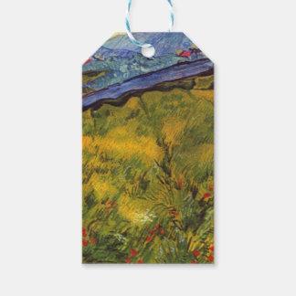 Étiquettes-cadeau Champ de blé de Vincent van Gogh avec Soleil