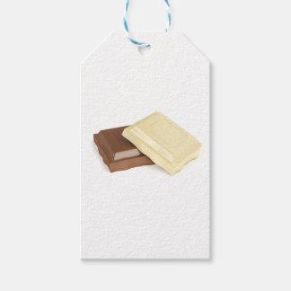 Étiquettes-cadeau Chocolat blanc et brun