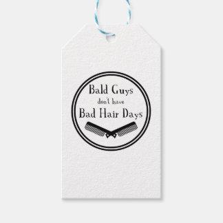 Étiquettes-cadeau Citation drôle - les types chauves n'ont pas de