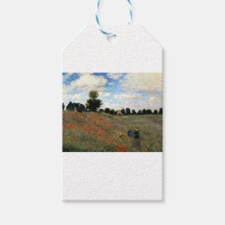 Étiquettes-cadeau Claude Monet - Les Coquelicots
