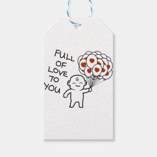 Étiquettes-cadeau Complètement de l'amour à vous