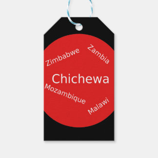 Étiquettes-cadeau Conception de langue de Chichewa