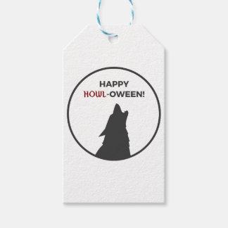 Étiquettes-cadeau Conception heureuse de Halloween de loup-garou