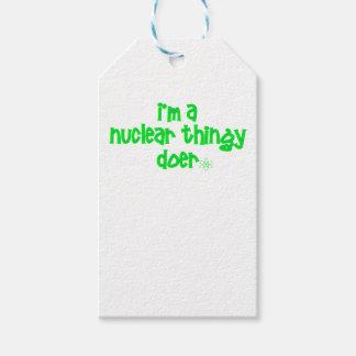 Étiquettes-cadeau Conception nucléaire originale
