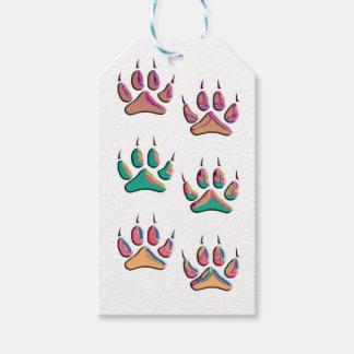 Étiquettes-cadeau Copie colorée de loup