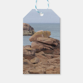 Étiquettes-cadeau Côte rose de granit en Bretagne