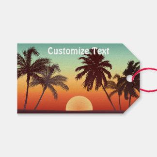 Étiquettes-cadeau Coucher du soleil de la Floride