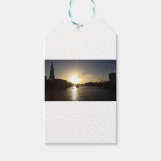 Étiquettes-cadeau Coucher du soleil de Londres