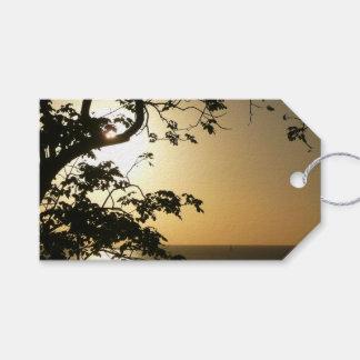 Étiquettes-cadeau Coucher du soleil par la photographie tropicale