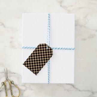 Étiquettes-cadeau Damier noir et blanc