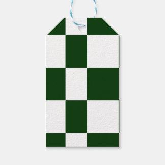 Étiquettes-cadeau Damiers noirs et blancs