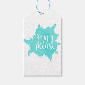 Étiquettes-cadeau De plage blanc svp