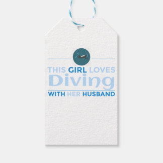 Étiquettes-cadeau diving_husband