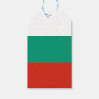 Étiquettes-cadeau Drapeau de la Bulgarie ou du Bulgare