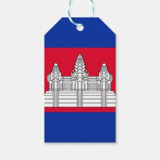 Étiquettes-cadeau Drapeau du Cambodge