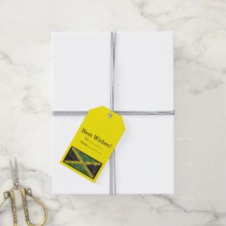 Étiquettes-cadeau Drapeau jamaïcain - froissé