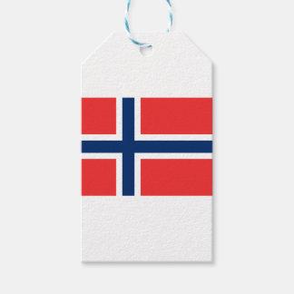 Étiquettes-cadeau Drapeau norvégien