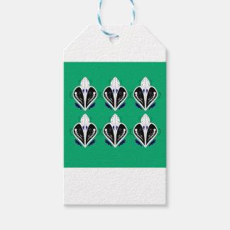 Étiquettes-cadeau Eco blanc vert d'éléments