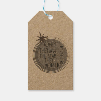 Étiquettes-cadeau Écriture sainte religieuse de Noël