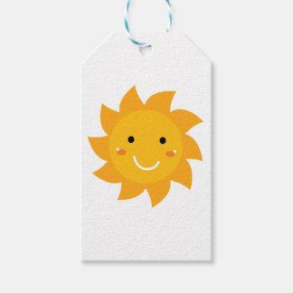 Étiquettes-cadeau Édition heureuse de concepteurs du soleil