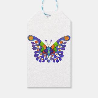 Étiquettes-cadeau Elenissina - papillon coloré
