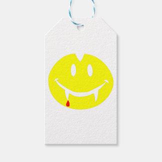 Étiquettes-cadeau emoji Dracula de vampire