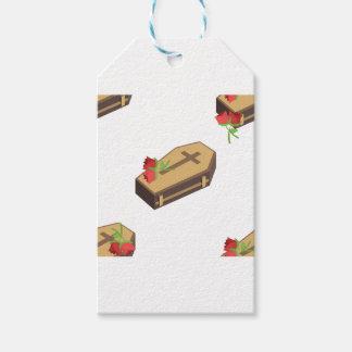 Étiquettes-cadeau emojis de cercueil