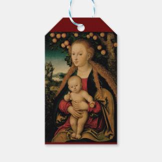 Étiquettes-cadeau Enfant de Vierge sous le pommier Cranach