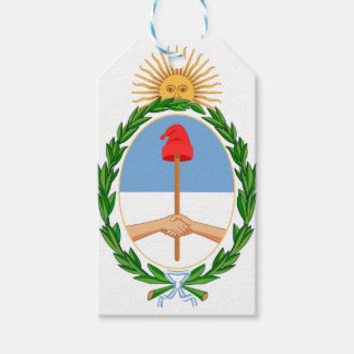 Étiquettes-cadeau Escudo De Argentine - manteau des bras de
