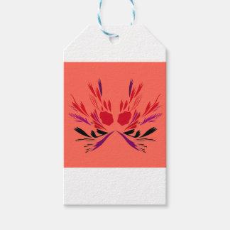 Étiquettes-cadeau Ethno rouge de tatouage de henné