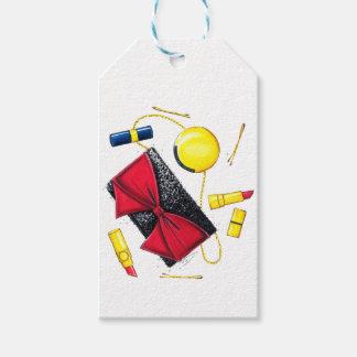 Étiquettes-cadeau Étincelle et arcs de vacances