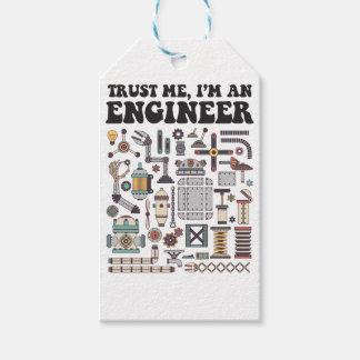 Étiquettes-cadeau Faites- confiancemoi, je suis un ingénieur