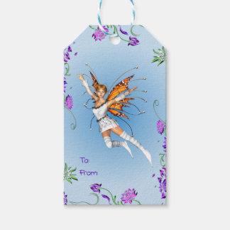 Étiquettes-cadeau Féerie de papillon